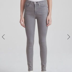 Rag & Bone Grey Skinny Jeans Size 26 GUC